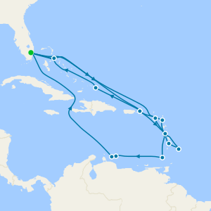 Caribbean Explorer from Ft. Lauderdale with Miami Beach Stay