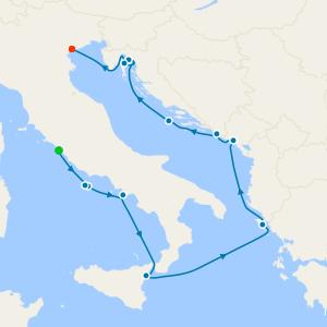 Italy, Montenegro & Croatia from Rome