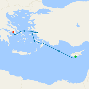 Three Continents from Limassol to Athens with Stay