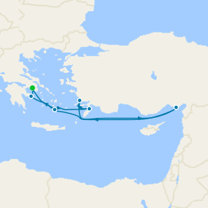 Southern Cyclades from Athens