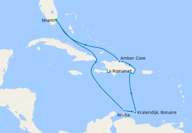 Southern Caribbean from Miami