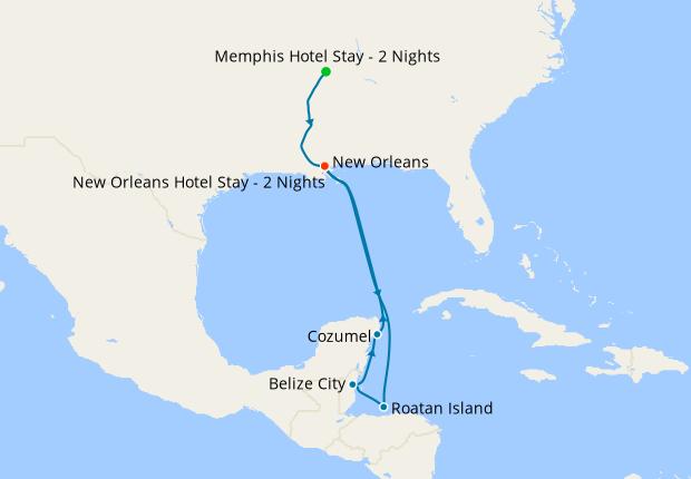 Memphis, New Orleans & Western Caribbean
