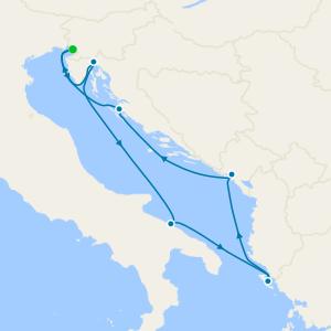 Italy, Croatia, Greece & Montenegro from Trieste
