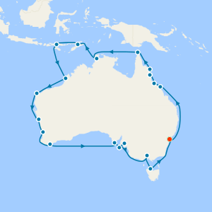 Australia Circumnavigation with Sydney Stay