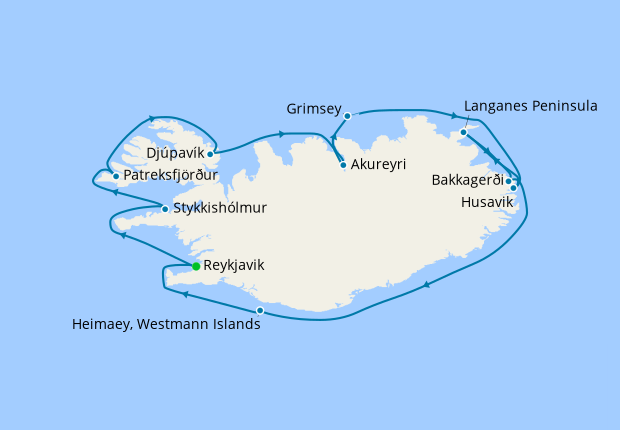 Circumnavigating Iceland - The Land of Elves, Sagas & Volcanoes