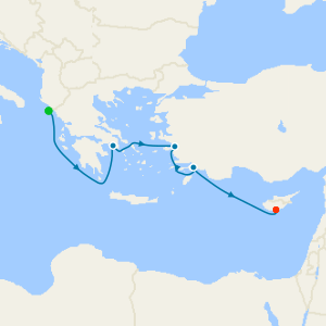 Aegean Delights from Corfu to Cyprus