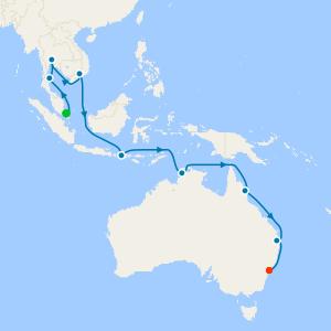 Singapore & Southeast Asia to Tropical Oz & Sydney