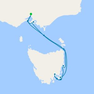 Phillip Island & Tasmania from Melbourne
