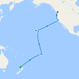 Auckland, Hawaii, Tahiti & South Pacific Crossing to Vancouver