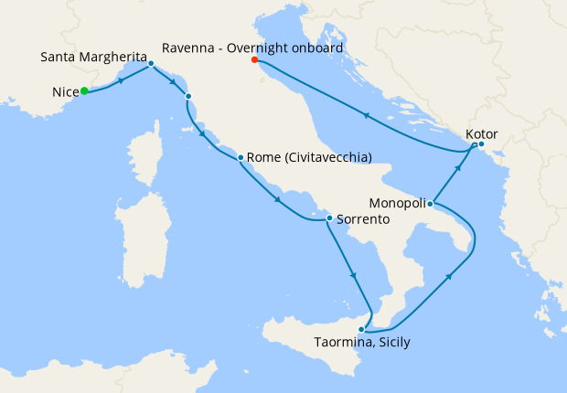 Italy Intensive Voyage from Genoa