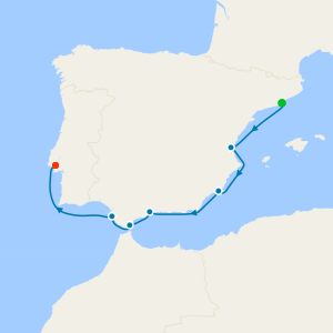 Spain Intensive Voyage from Barcelona