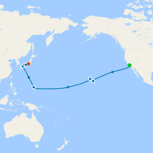 South Pacific from Los Angeles to Tokyo