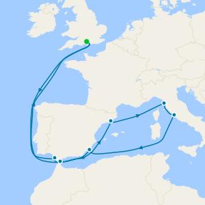 Western Mediterranean from Southampton