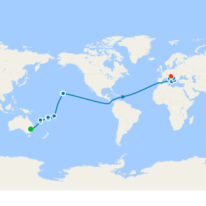 Sydney, The South Pacific & Hawaii to Seattle