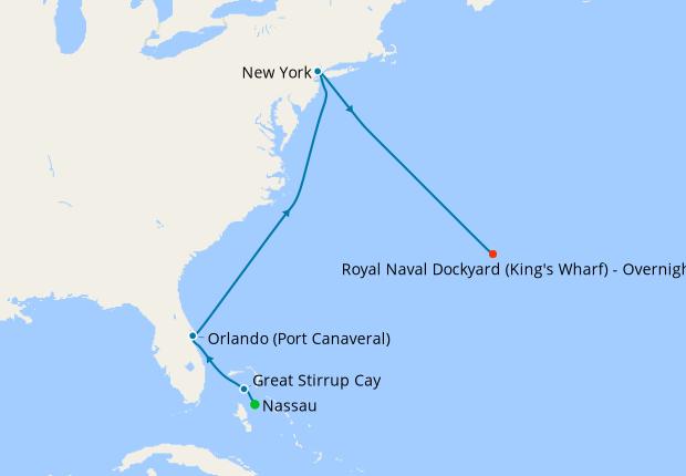 Bahamas & USA from New York