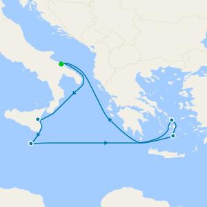 Italy, Malta & Greece from Bari