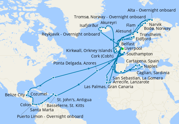 World Cruise from Liverpool