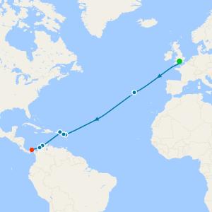 Bahamas, Florida & Panama Canal from Southampton
