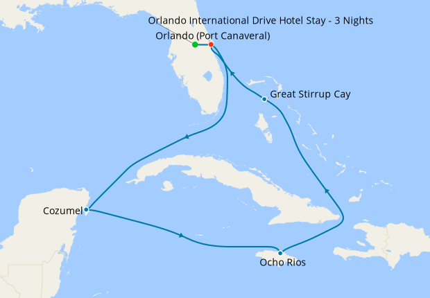 Western Caribbean from Orlando with Stay