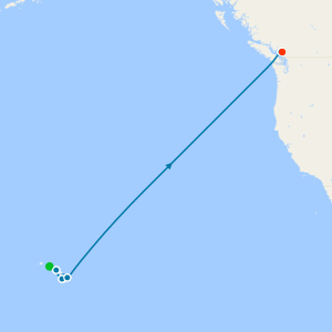 Hawaii from Honolulu to Vancouver with Stay