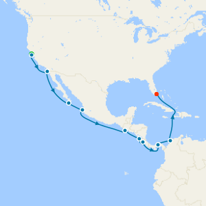 Panama Canal to Miami from San Francisco with Stay
