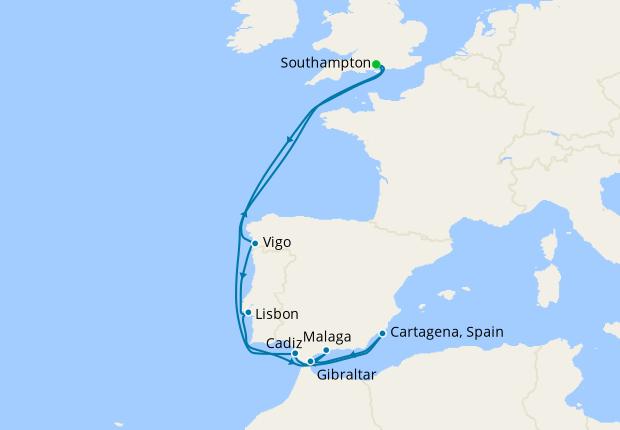 Iberian Coast from Southampton
