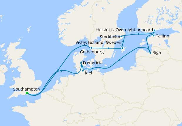Baltic Cities from Southampton