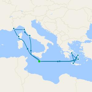 Western & Eastern Mediterranean from Malta