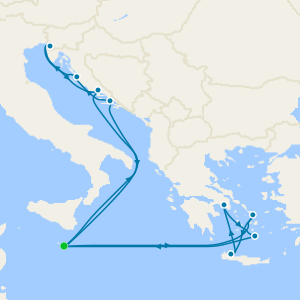 Eastern & Central Mediterranean from Malta