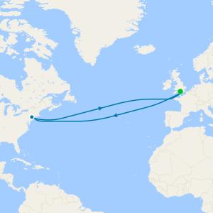 Transatlantic Roundtrip from Southampton