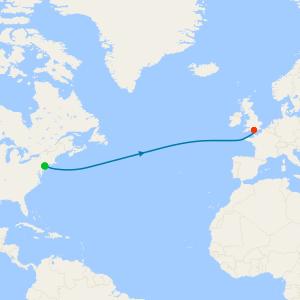 Transatlantic from New York to Southampton