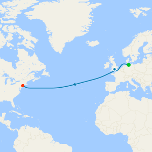 Transatlantic from Hamburg to New York