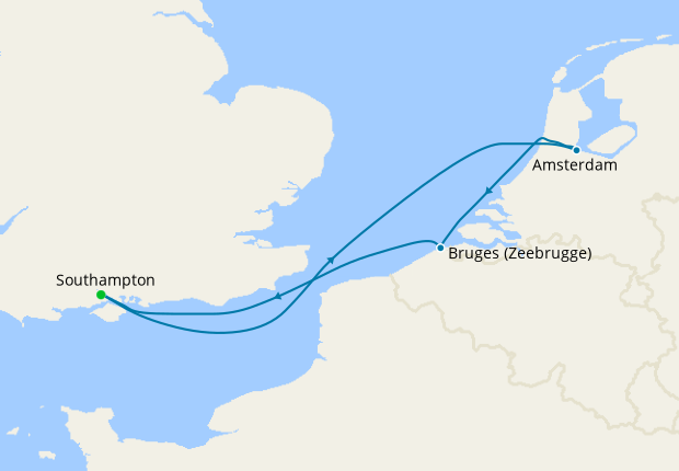 Luxury Amsterdam & Bruges from Southampton