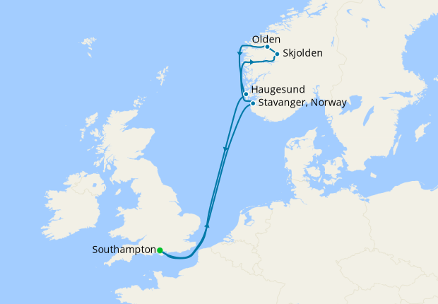 Norwegian Fjords from Southampton