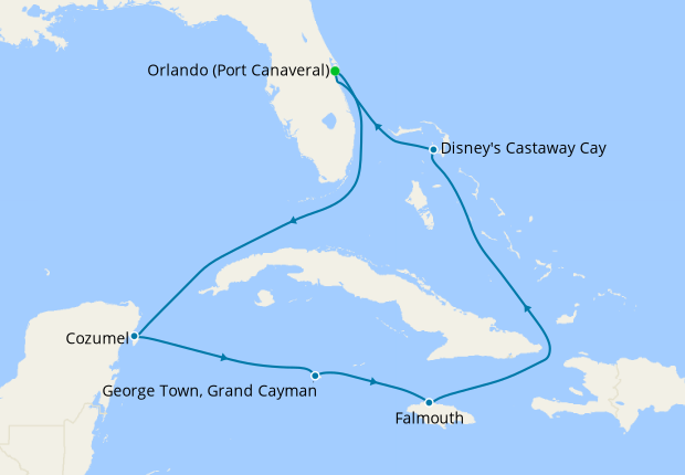 Western Caribbean from Port Canaveral