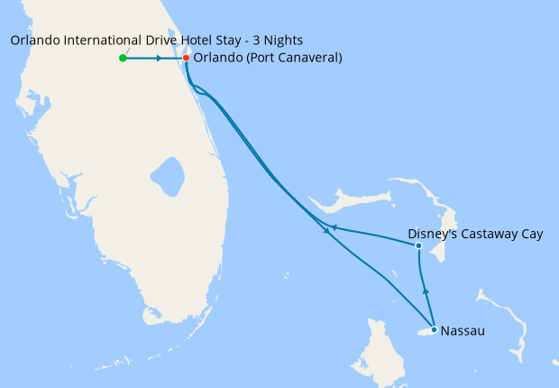 Very Merrytime Bahamian Cruise from Port Canaveral with Orlando Stay