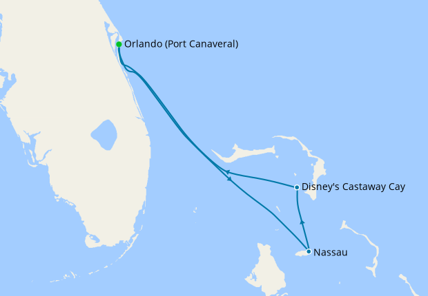 Bahamian Cruise from Port Canaveral with Orlando Stay