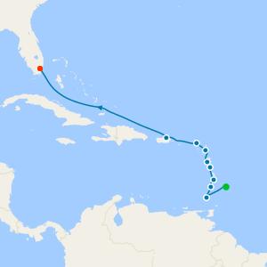 Granada, Grenadies & Guadeloupe from Bridgetown