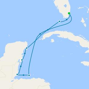 Belize to the Florida Keys - Miami Roundtrip