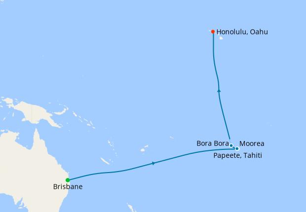 Transpacific from Brisbane to Honolulu