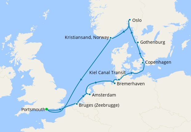 Northern Europe Embrace - Portsmouth Roundtrip