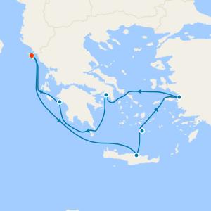 Aegean Shores & 7 Nt Corfu Stay