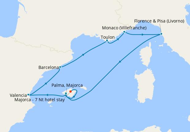 Mediterranean Medley & 7 Nt Majorca Stay