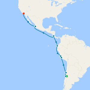 South America to Los Angeles from Santiago with Stay