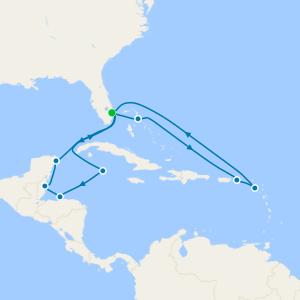 Eastern & Western Caribbean Adventurer from Ft. Lauderdale