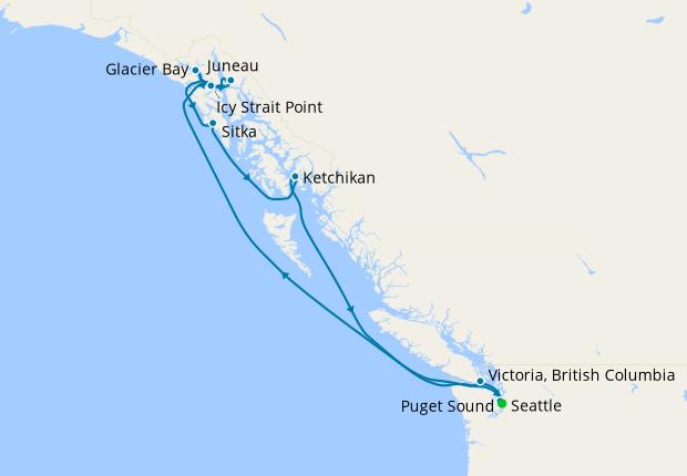 Alaskan Explorer via Glacier Bay from Seattle