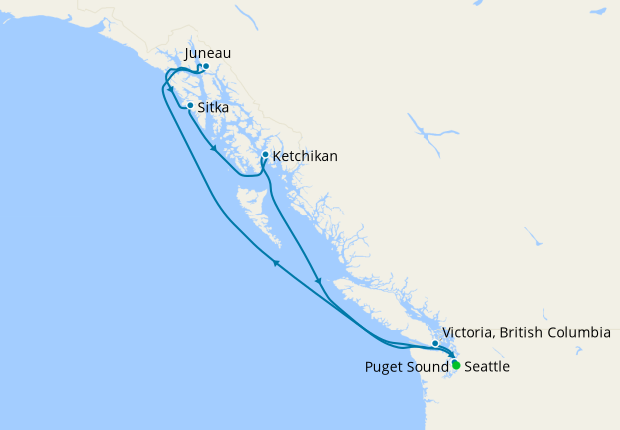 Alaskan Explorer via Hubbard Glacier from Seattle