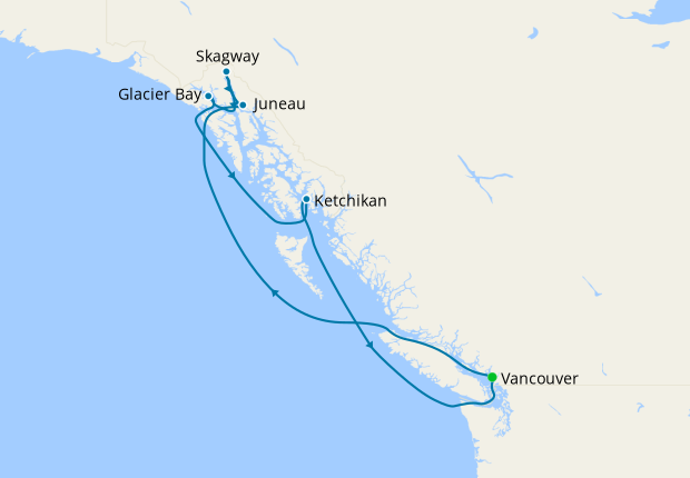 Alaska with Inside Passage from Vancouver