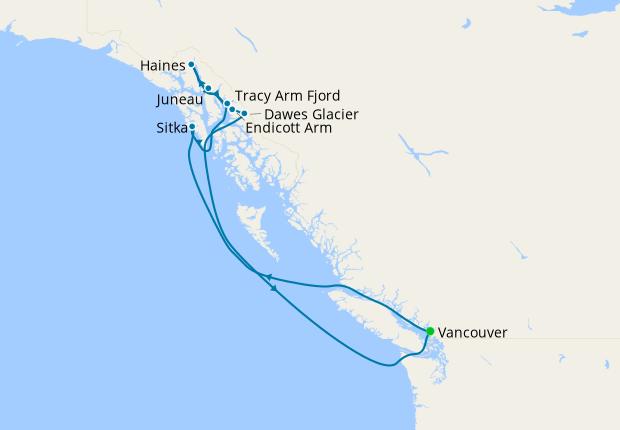 Alaska Multi Glacier Experience from Vancouver