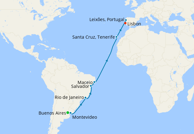MSC Grand Voyage from Buenos Aires to Lisbon